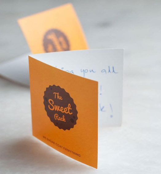 THE SWEET RACK CARD