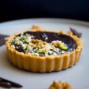 Chocolate Walnut Tart (Single Serving)